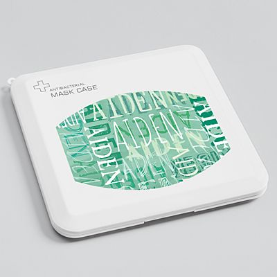 Signature Style Antibacterial Face Mask Case - Green