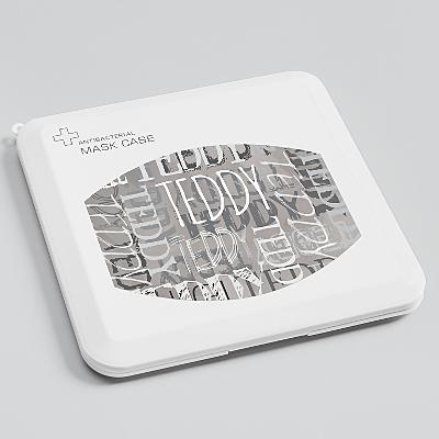 Signature Style Antibacterial Face Mask Case - Gray