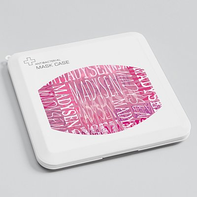Signature Style Antibacterial Face Mask Case - Pink