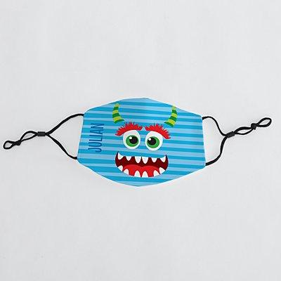 Silly Monster Kids Face Mask - Blue