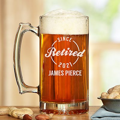 Established Retirement Oversized Beer Mug