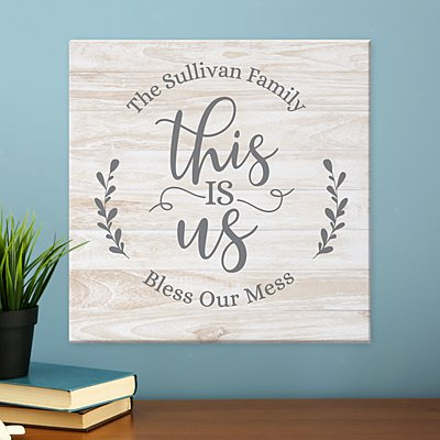 Floral This Is Us Canvas