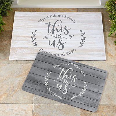 Floral This Is Us Doormat