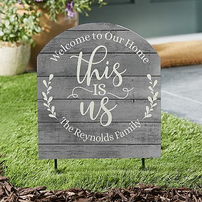 Floral This Is Us Outdoor Sign