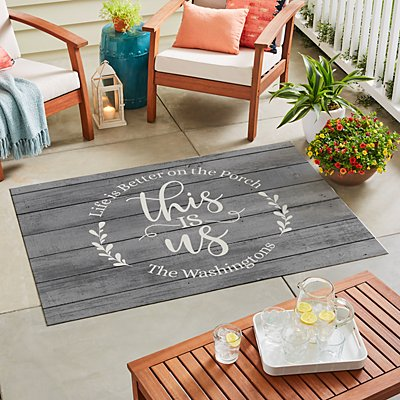 Floral This Is Us Oversized Outdoor Mat