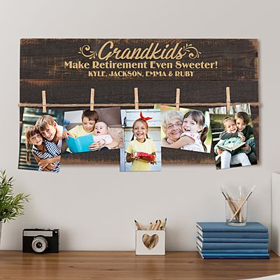 Grandkids Make Retirement Sweet Wood Pallet Wall Art