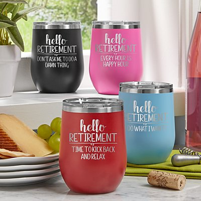 Let The Adventure Begin Insulated Wine Tumblers