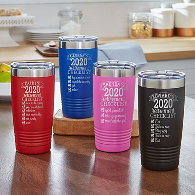 Retirement Checklist  Insulated Tumblers