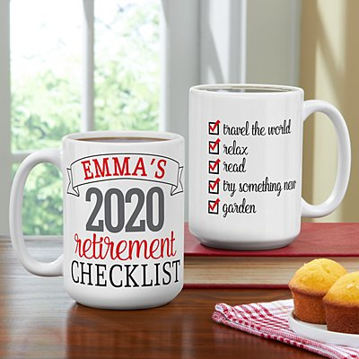 Retirement Checklist Mug
