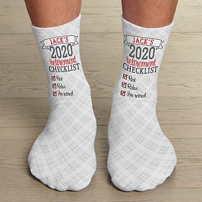 Retirement Checklist Socks