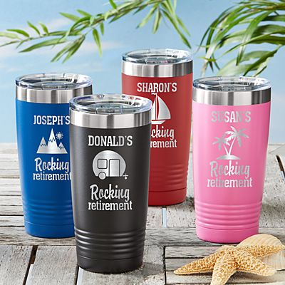Rocking Retirement Insulated Tumblers