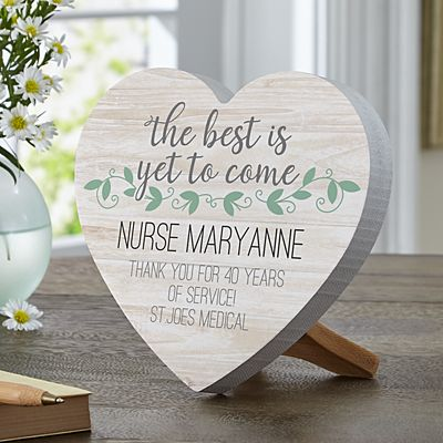 The Best Is Yet To Come Mini Wood Heart