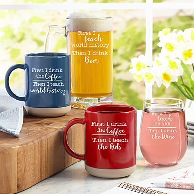 First Coffee, Then Cocktails Mug Set