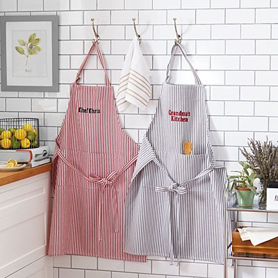 Classic Striped Kitchen Apron