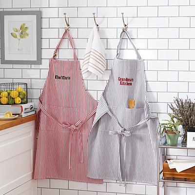 Classic Striped Kitchen Apron