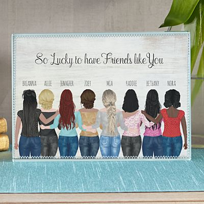 Forever Friends Glass Block