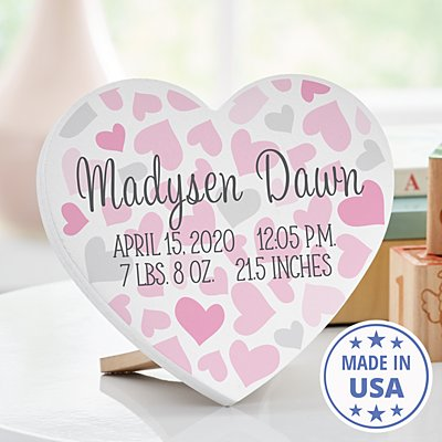 Full Hearts Mini Wood Heart