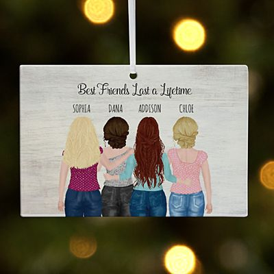 Forever Friends Rectangle Ornament