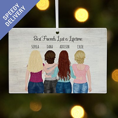 Forever Friends Rectangle Bauble