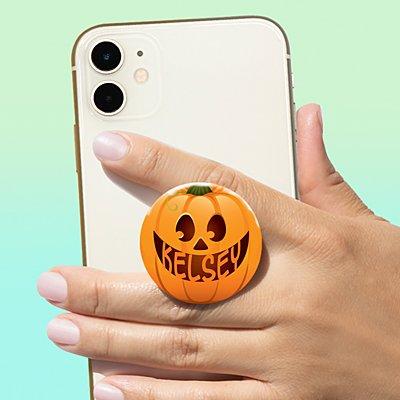 Halloween Pumpkin Face PopSockets PopGrip®