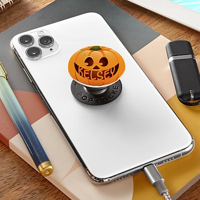 Halloween Pumpkin Face PopSockets PopGrip®