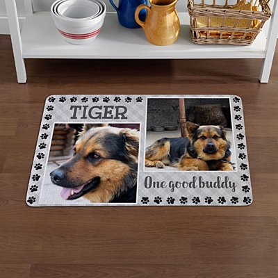 Paw Print Photo Pet Mat