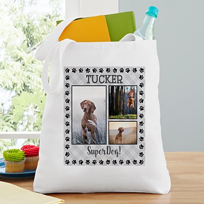 Paw Print Photo Tote Bag