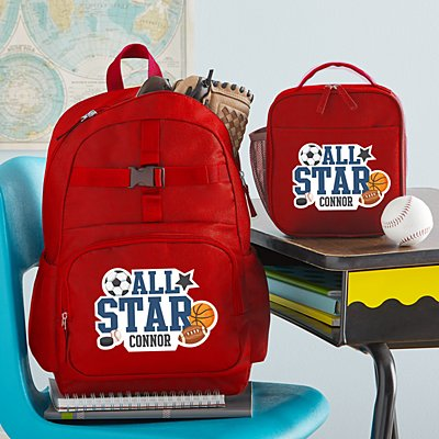 Fun Graphic Boys Red Backpack Collection