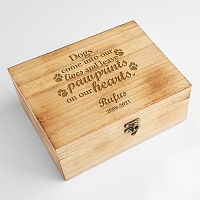 Pawprints in Heaven Keepsake Box