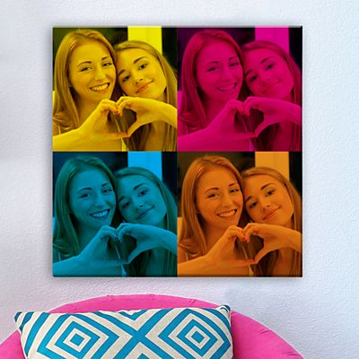 Pop Art Photo Canvas