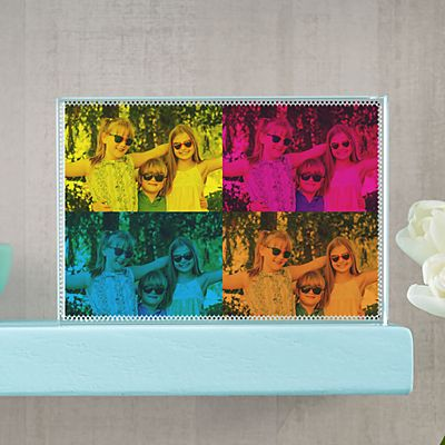 Pop Art Photo Glass Block