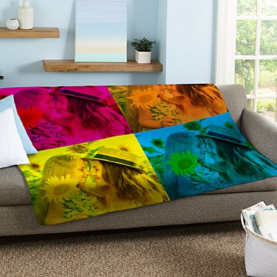 Pop Art Photo Plush Blanket