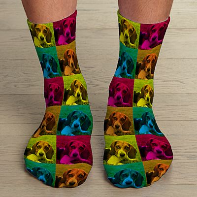 Pop Art Photo Socks