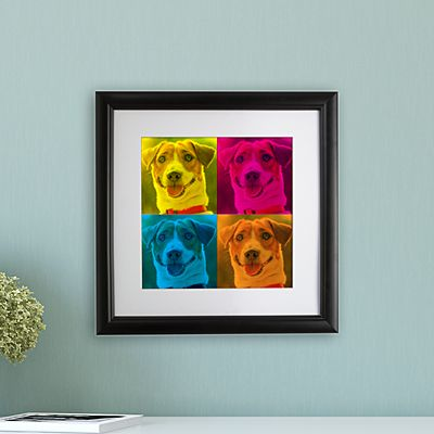 Pop Art Photo Square Framed Print