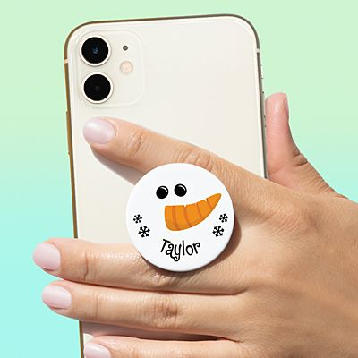 Smiling Snowman PopSockets PopGrip®