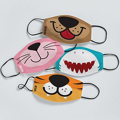 Animal Faces Kids Face Mask