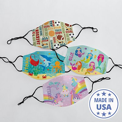 Colorful Characters Kids Face Mask