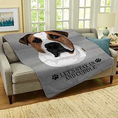 Dog Breed Plush Blanket
