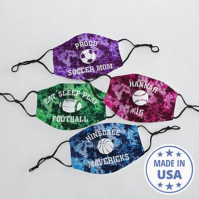 Tie Dye Sports Face Mask