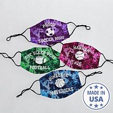 Tie Dye Sports Face Mask