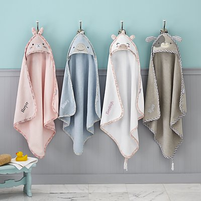 Stephen Joseph® Sweet Baby Hooded Bath Towels
