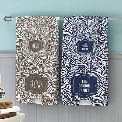 Swirls & Twirls Family Bath Towels