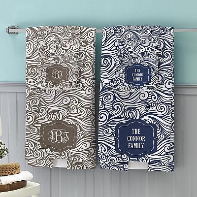 Swirls & Twirls Family Bath Towels