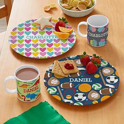 Tossed Print Personalized Tableware