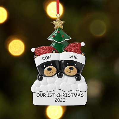 Beary Christmas Couple Bauble