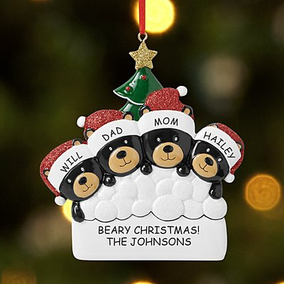 Beary Christmas Family Ornament