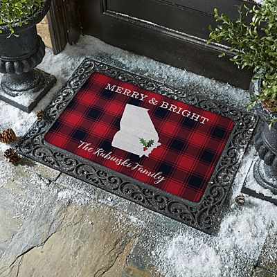 Buffalo Plaid State Doormat
