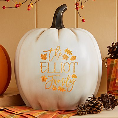 Light-Up Falling Leaves XL Cream Pumpkin