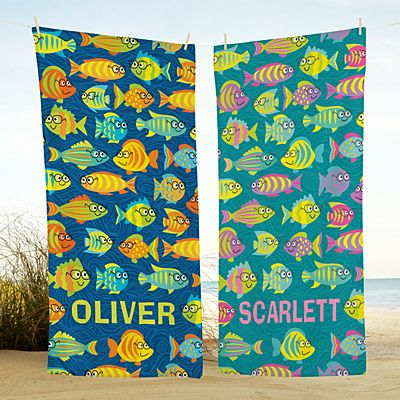 Smarty Pants Fish Beach Towel