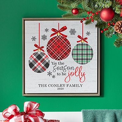 'Tis the Season Shimmer Wood Wall Art